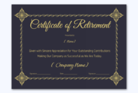 Certificate Of Retirement 926 Word Layouts With Quality Free Retirement Certificate Templates For Word