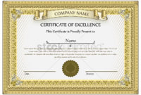 Certificate Template Vector Image 1507465 Stockunlimited Intended For High Resolution Certificate Template