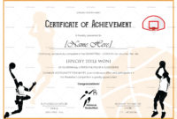 Certificate Templates Shooting Sports Award Certificate With Regard To Basketball Camp Certificate Template