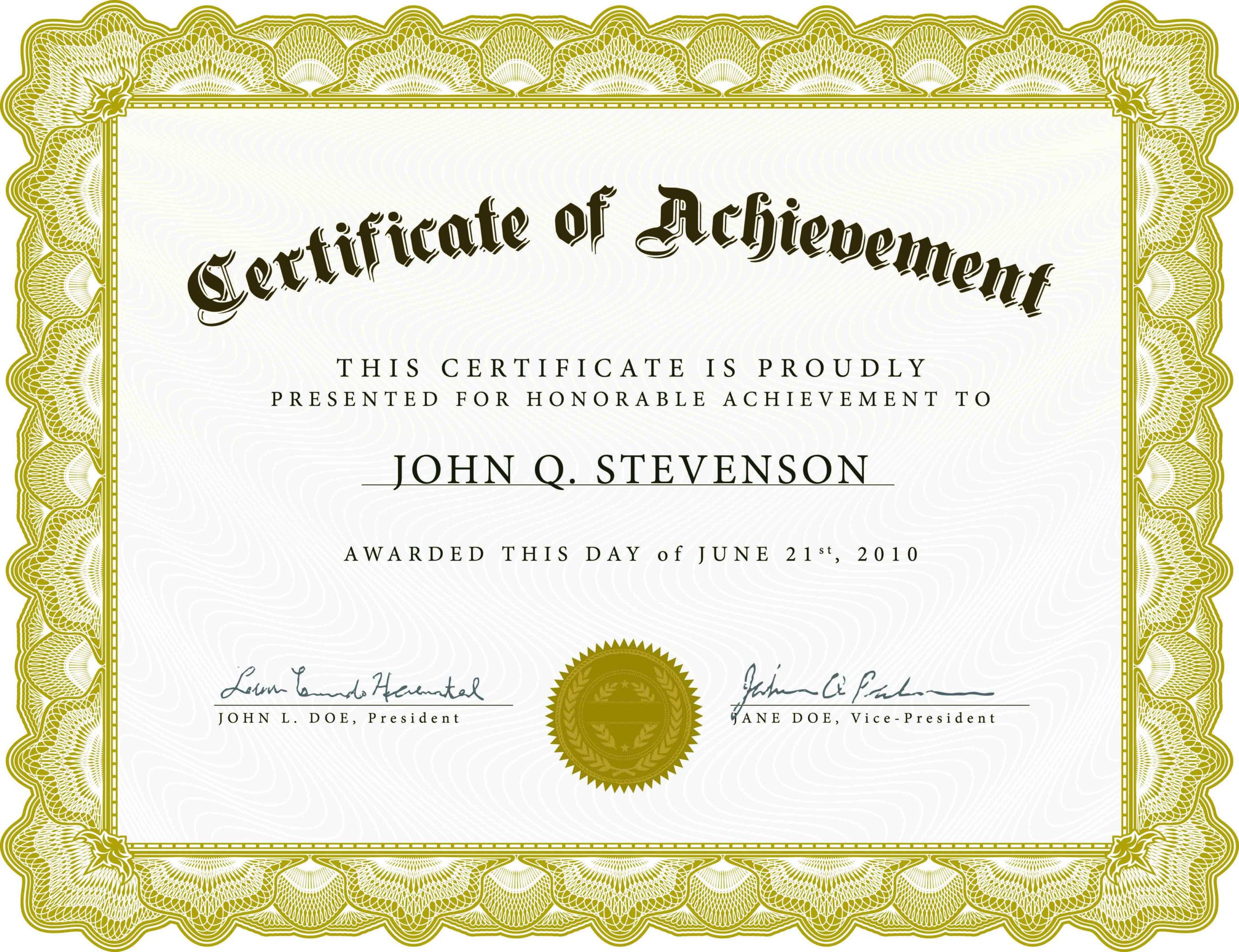 Certificatetemplatesprintableworddocpdf Inside Awesome Free Printable Blank Award Certificate Templates