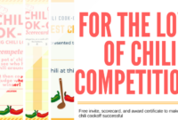 Chili Cookoff Insider Another Free Invite Scorecard With Bake Off Certificate Templates