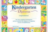 Classic Diploma Kindergarten 30Pk 81/2 X 11 T17002 For 10 Kindergarten Graduation Certificates To Print Free