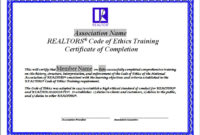 Code Of Ethics Training Certificates Wwwnarrealtor Pertaining To Amazing International Conference Certificate Templates
