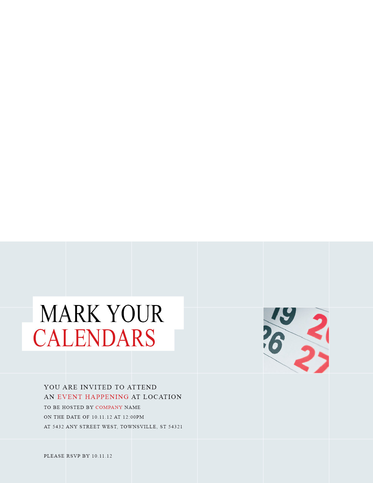 Customizable Every Door Direct Mail Template 10062 For With Regard To Save The Date Business Event Templates