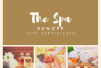 Customize 87 Spa Gift Certificate Templates Online Canva With Regard To Free Spa Day Gift Certificate Template