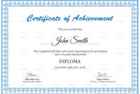 Diploma Achievement Certificate Design Template In Psd Word Regarding Certificate Of Achievement Template Word