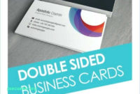 Double Sided Business Card Template Word Intended For 2 Sided Business Card Template Word