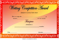 Download 12 Winner Certificate Template Ideas Free In First Place Certificate Template