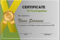 Editable Word Certificate Of Participation Template Intended For Templates For Certificates Of Participation