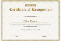 Employee Recognition Certificates Templates Calep Within Printable Professional Award Certificate Template