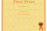 First Prize Certificate Template Download Printable Pdf With First Place Certificate Template