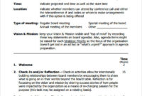 Free 11 Board Meeting Agenda Templates In Pdf Intended For Agenda Template For Nonprofit Board Meeting