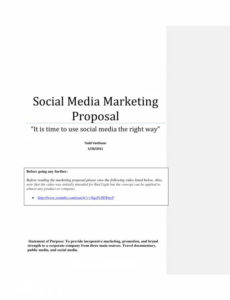 Free 12 Social Media Marketing Proposal Templates In Pdf In Awesome Advertising Proposal Template