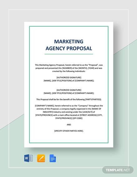 Free 26 Sample Marketing Proposal Templates In Google Within Awesome Advertising Proposal Template
