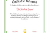Free 8 Sample Certificates In Pdf Ms Word Ai With Regard To Free Retirement Certificate Templates For Word