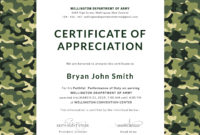 Free Army Certificate Of Appreciation Template In Adobe Intended For Army Certificate Of Appreciation Template