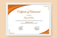 Free Certificate Of Achievement Template Word Doc Inside Printable High Resolution Certificate Template