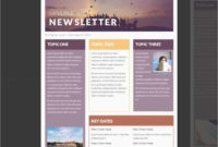 Free Collection 50 Templates For Newsletters Free Download Within Free Business Newsletter Templates For Microsoft Word