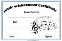 Free Editable Music Certificate Template Free And In Piano Certificate Template Free Printable