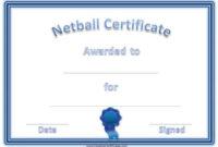 Free Netball Certificates Pertaining To Netball Certificate