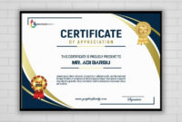 Free Photoshop Modern Certificate Design Graphicsfamily Within Amazing Design A Certificate Template