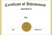 Free Printable Blank Award Certificate Templates Within Free Printable Blank Award Certificate Templates