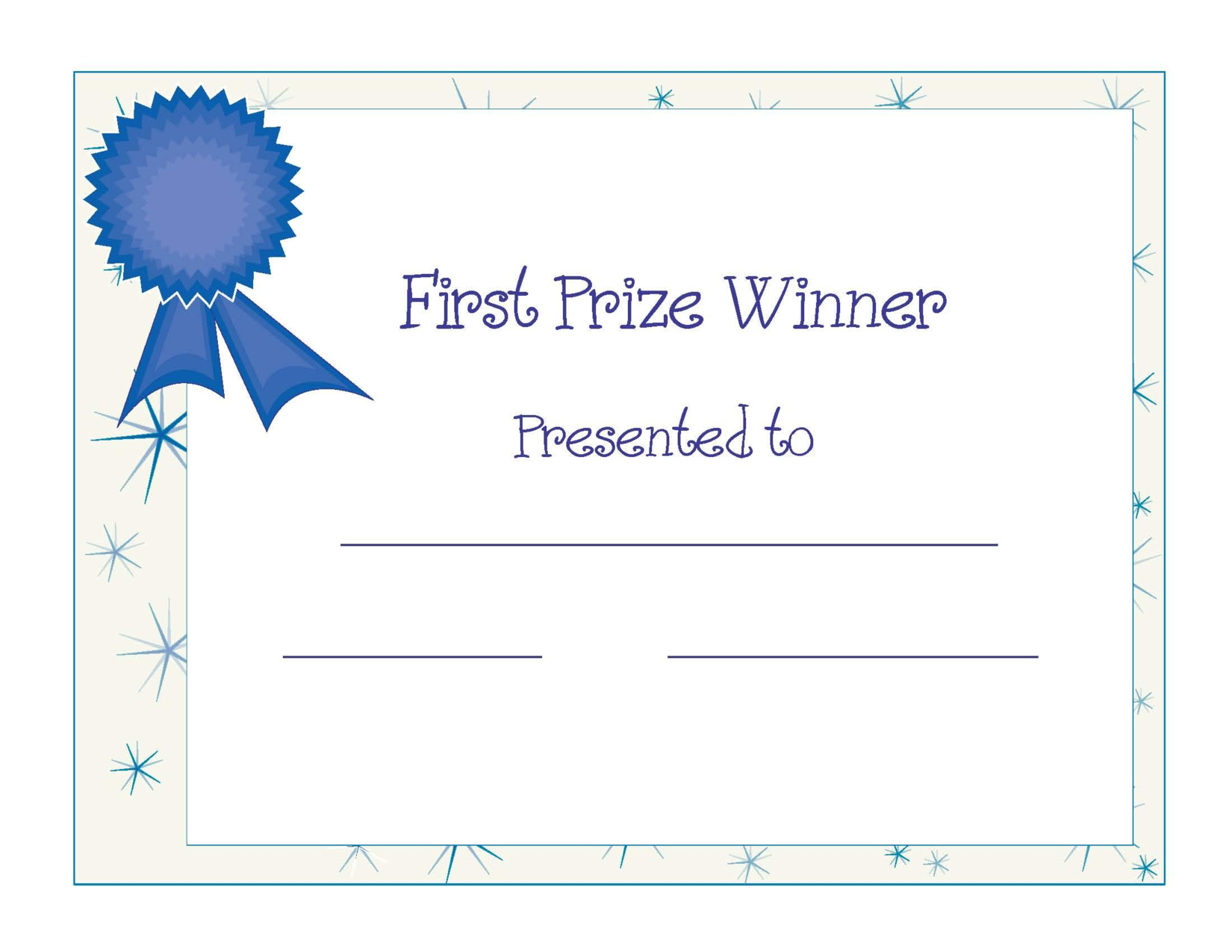 Free Printable Blank Certificate Templates Free Printable Throughout Free Printable Blank Award Certificate Templates