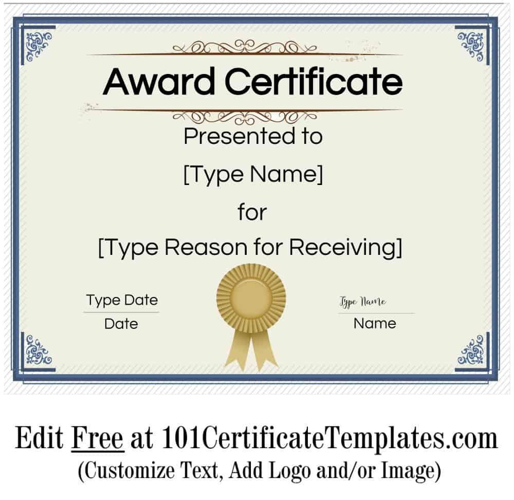 Free Printable Certificate Templates Customize Online For Free Printable Blank Award Certificate Templates