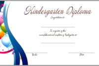 Free Printable Kindergarten Diploma Certificate 3 Op With Regard To 10 Kindergarten Graduation Certificates To Print Free