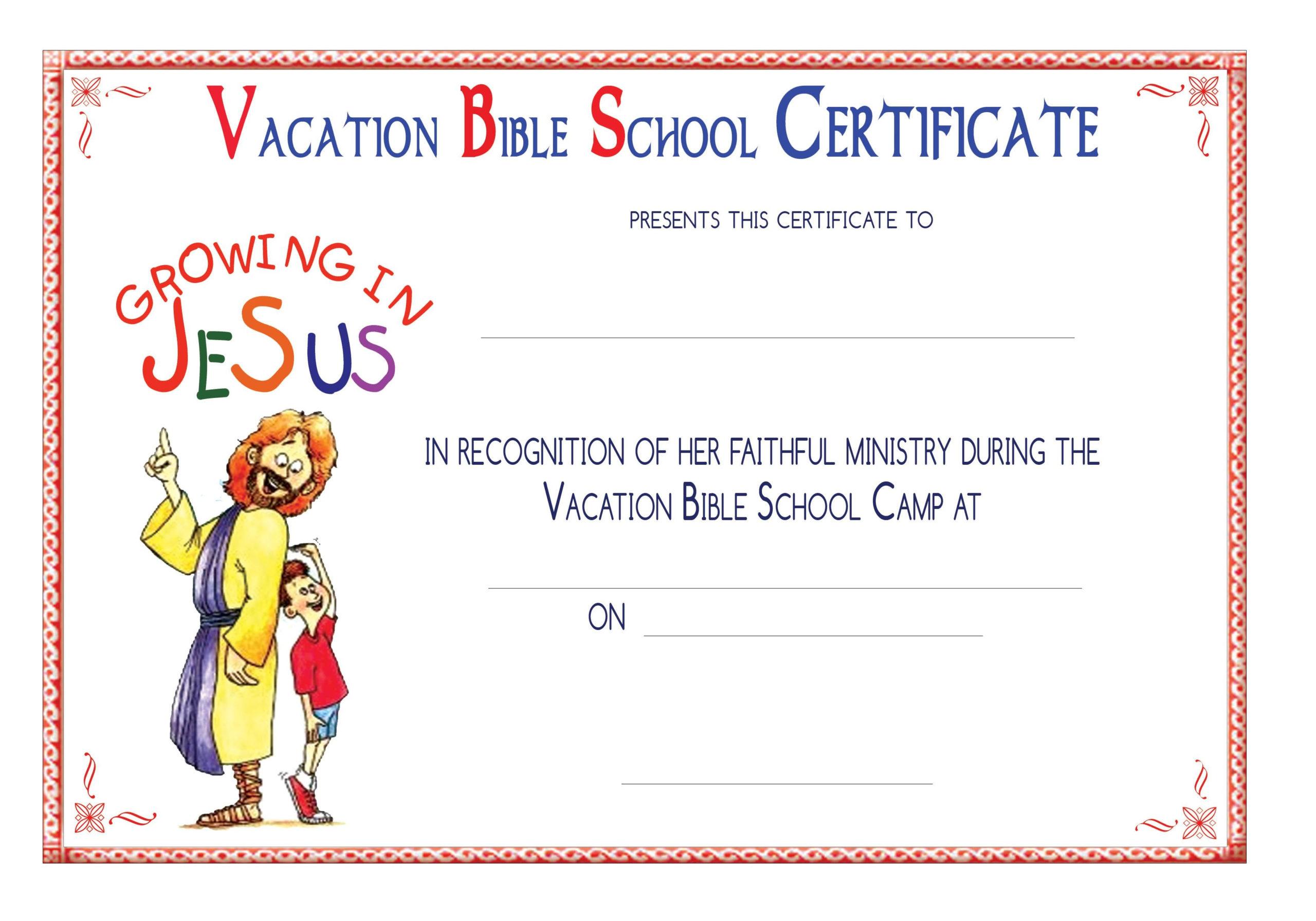 Free Printable School Certificates Templates Free Printable For Printable Vbs Certificates Free