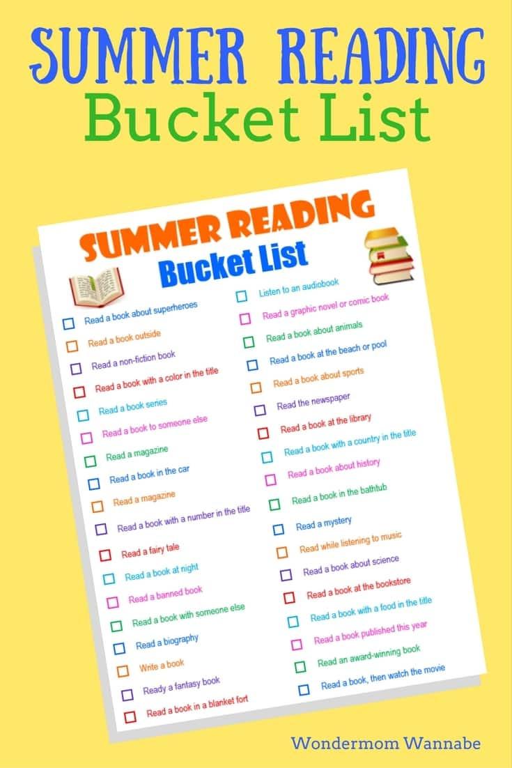 Free Printable Summer Reading Bucket List Money Saving With Summer Reading Certificate Printable