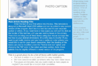 Free Sample Newsletter Templates Microsoft Word Of Word Within Free Business Newsletter Templates For Microsoft Word