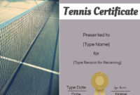 Free Tennis Certificates Edit Online And Print At Home In Best Editable Tennis Certificates