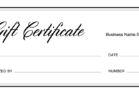 Gift Certificate Templates Download Free Gift Regarding Blank Certificate Templates Free Download
