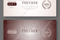Gift Voucher Template Illustration Pertaining To Elegant Regarding Free Elegant Gift Certificate Template