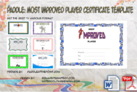Great Work Certificate Template 10 Outstanding Designs Regarding Best Most Improved Player Certificate Template