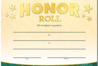 Honor Roll Gold Foilstamped Certificates Positive Pertaining To Honor Roll Certificate Template Free 7 Ideas