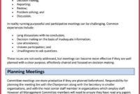 How To Create Effective Meeting Agendas 10 Free Templates For Agenda For A Meeting Template