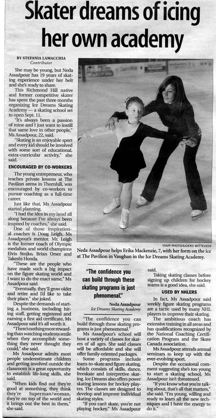 Ice Dreams Skating Academy Canada Talents With Regard To Ice Skating Certificates