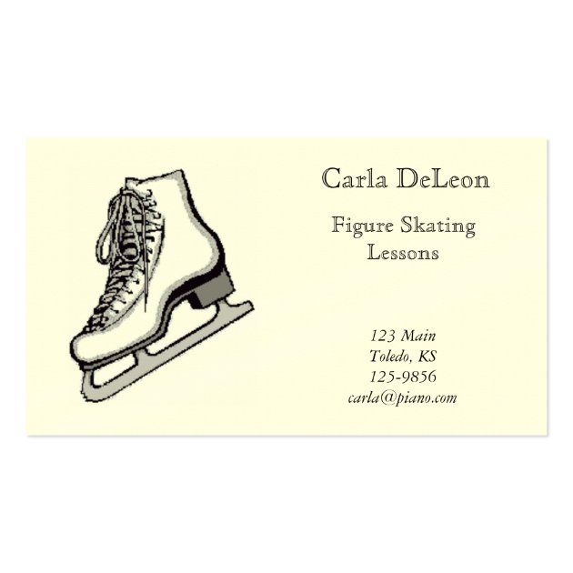 Ice Skating Business Card With Regard To Best Ice Skating Certificates
