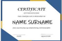Internship Certificate Templates 7 Free Microsoft Word With Microsoft Office Certificate Templates Free