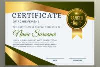 Luxury Certificate Template Design In Geometric Shape Within Amazing Design A Certificate Template