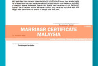 Malaysia Marriage Certificate Translation Template By Ata In Marriage Certificate Translation Template