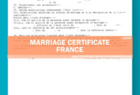 Marriage Certificate Translation Template French Language For Marriage Certificate Translation Template