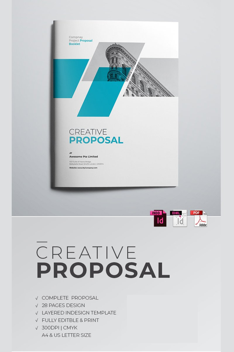 Minimal Project Proposal Corporate Identity Template 68083 With Regard To Proposal Cover Page Template