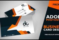 Moshims Bisnes Kad Professional Throughout Photoshop Cs6 Business Card Template
