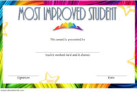 Most Improved Student Certificate 10 Template Designs Free In Student Leadership Certificate Template Ideas