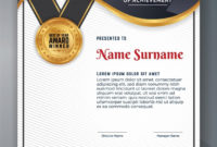 Multipurpose Professional Certificate Template Design For Within Professional Award Certificate Template