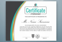 Multipurpose Professional Certificate Template Design In Professional Award Certificate Template