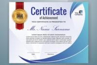 Multipurpose Professional Certificate Template Design With Regard To Professional Award Certificate Template